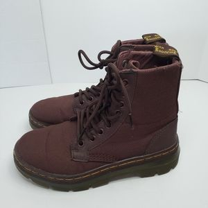 Dr Martin Combs Burgandy Boots Size 4
